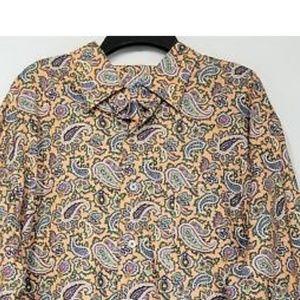 New Allan Flusser Paisley Button Down ShirtXL